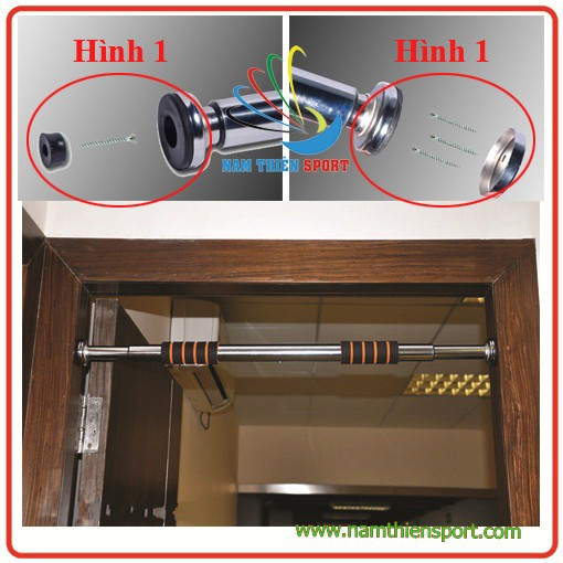 Xà đơn gắn cửa điều chỉnh từ 0.6-1.1 mét